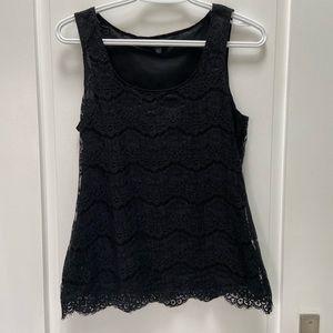 Banana Republic black lace tank top